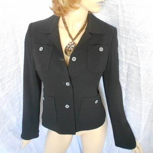 New ALFANI Black Button Down Career Jacket Sz 4